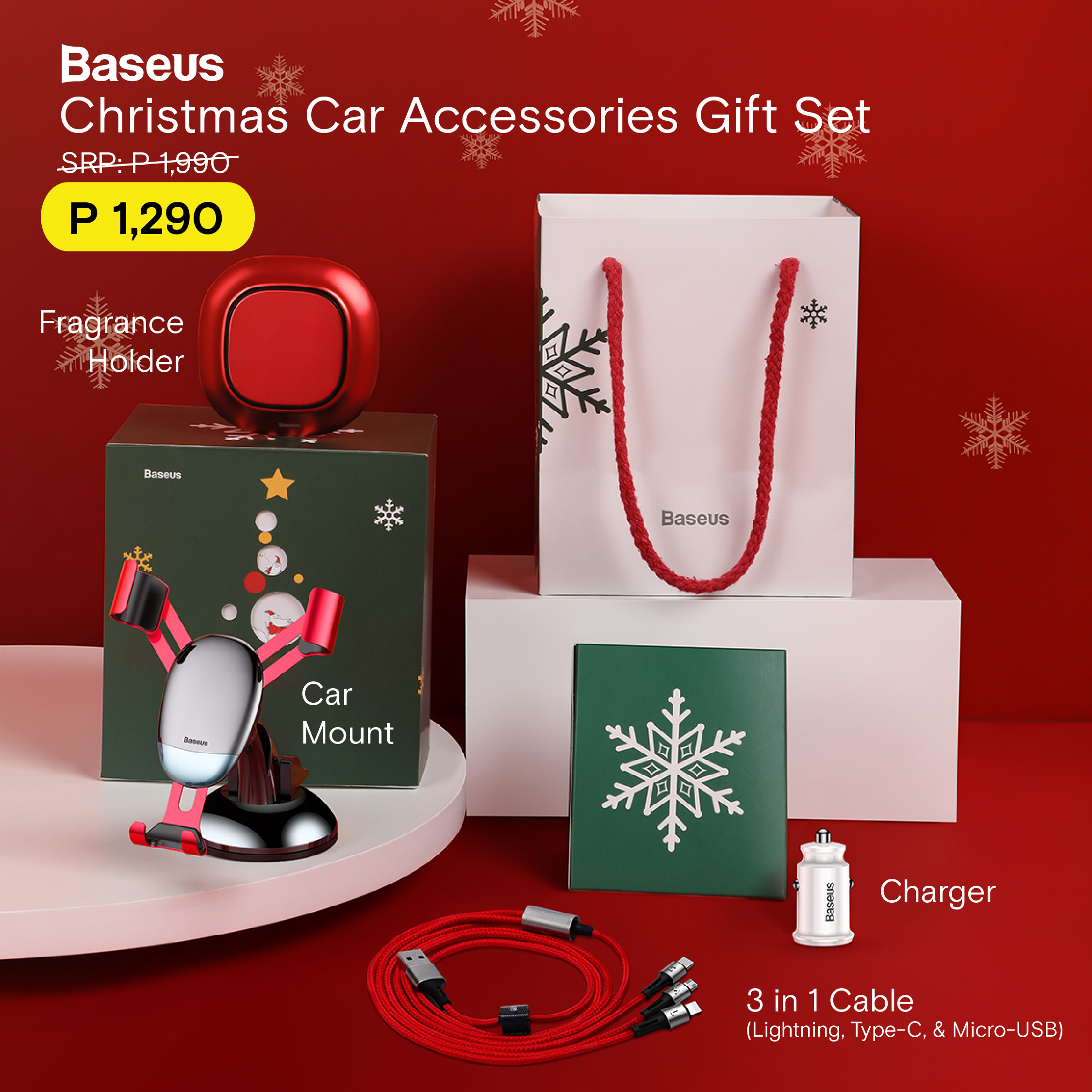Unboxing: Baseus Christmas Car Accessories Gift Set - Just another lifestyle news